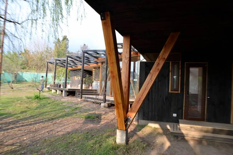 Pilares arbol: Casas de estilo  por PhilippeGameArquitectos