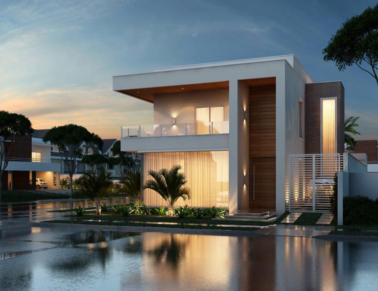Residência Flores - Perspectiva 02: Casas  por Marcos Assmar Arquitetura | Paisagismo