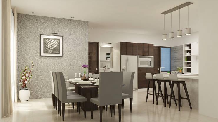 Interior Design of Mr Saravanan—Tulive—ECR—Appartment :  Bedroom by Aurazia Design Studio