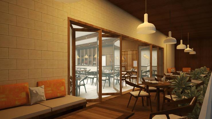 Business Class Hotel—Uganda:  Dining room by Aurazia Design Studio