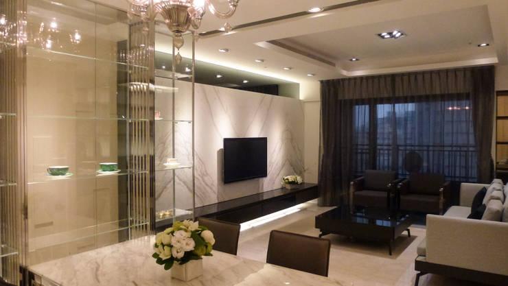 住宅設計-大樓:  客廳 by 沐築空間設計