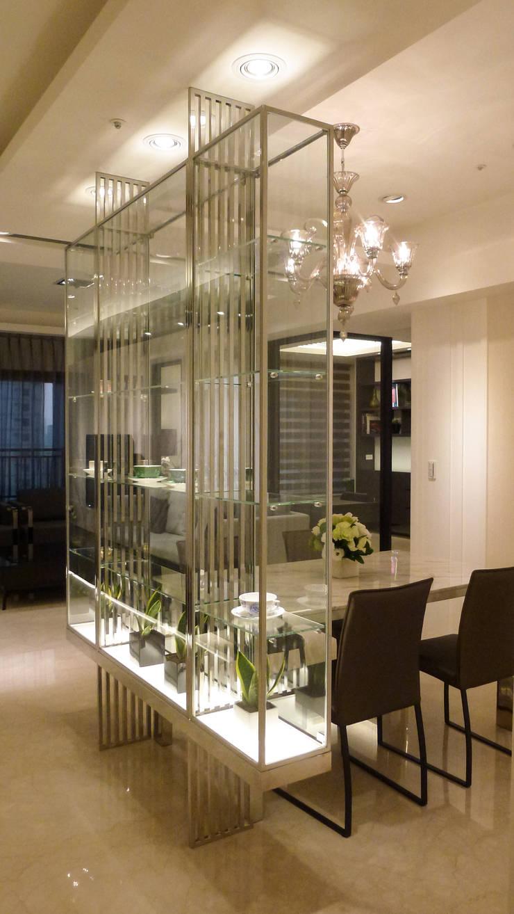 住宅設計-大樓:  餐廳 by 沐築空間設計