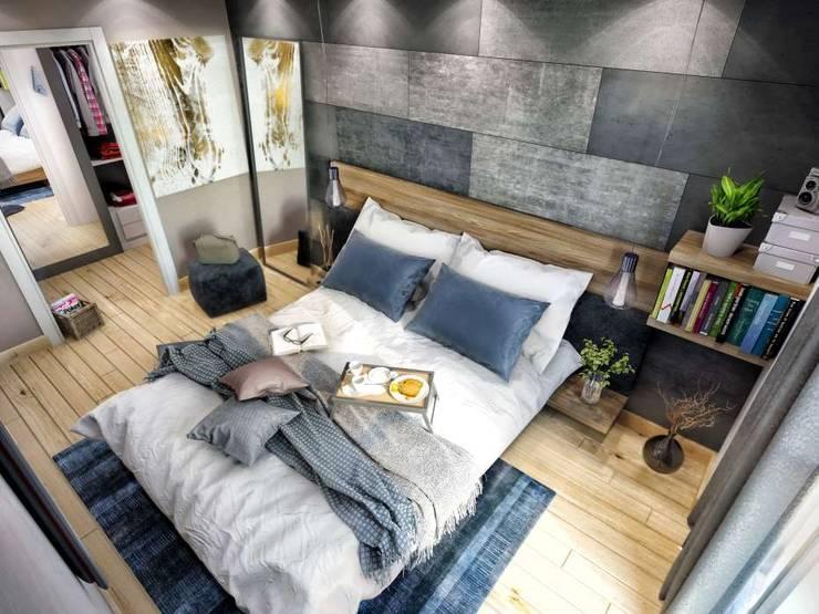 VERO CONCEPT MİMARLIK – Avcılar Cadde Bostan Bornova Konutları:  tarz Yatak Odası