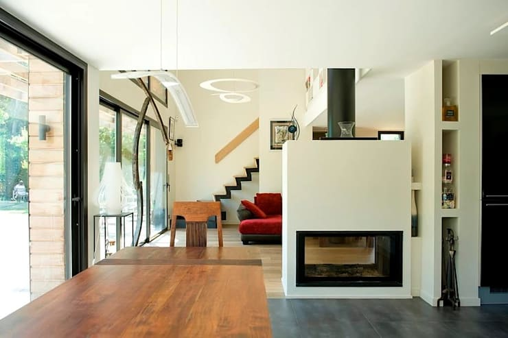 Salas / recibidores de estilo  por EC-BOIS,