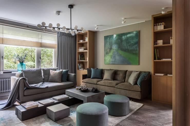 Living room by Дизайн бюро Татьяны Алениной