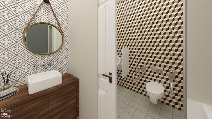 Casa de banho: Espaços de restauração  por No Place Like Home ®