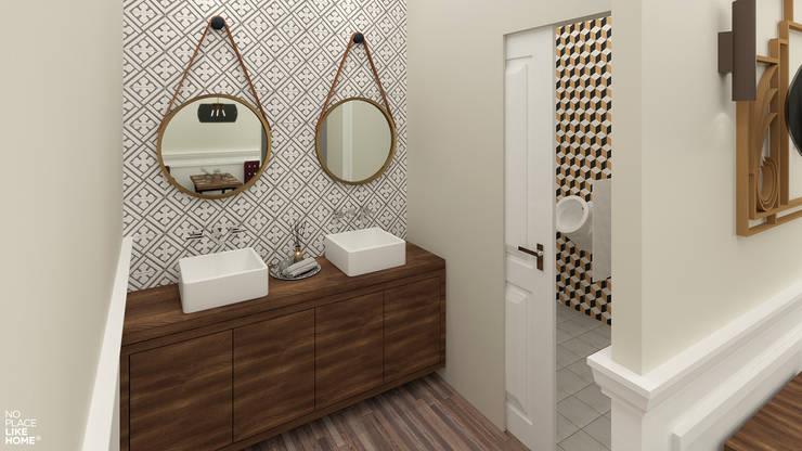 Casa de banho: Espaços de restauração  por No Place Like Home ®,Eclético