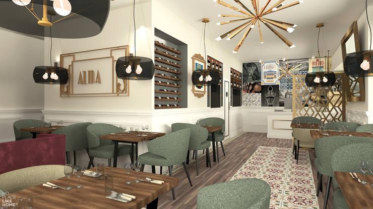 Sala de restaurante: Espaços de restauração  por No Place Like Home ®,Eclético