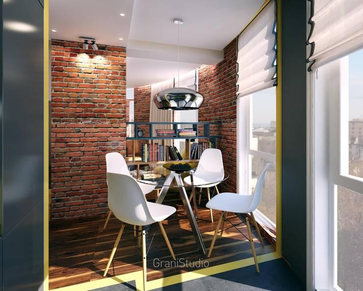 Уютный лофт: Столовые комнаты в . Автор – GraniStudio