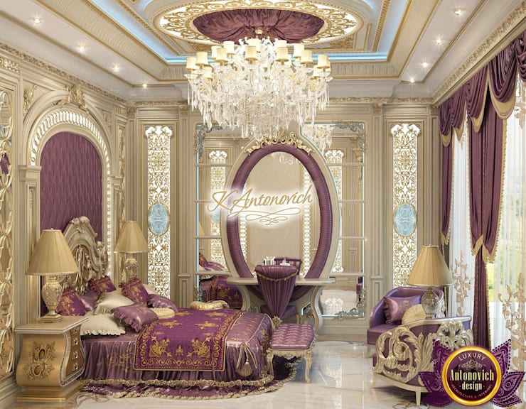 ​Fashionable interior design of Katrina Antonovich:  Bedroom by Luxury Antonovich Design, Eclectic