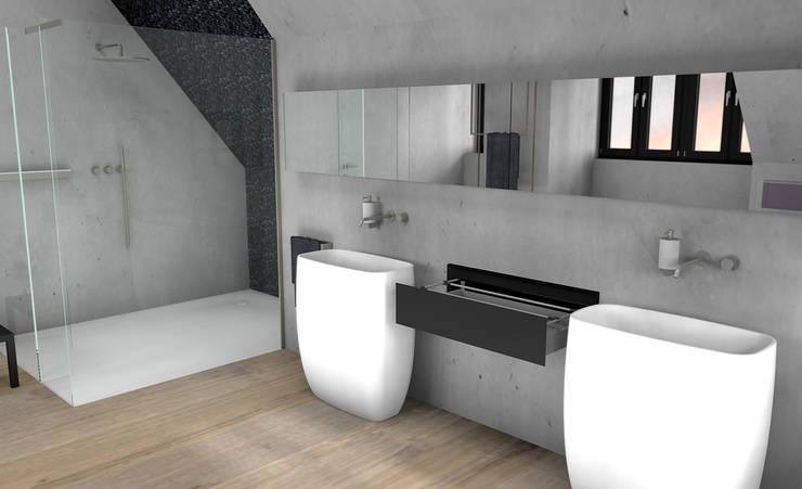 Badezimmer im siebten Himmel:  Badezimmer von URBANroom