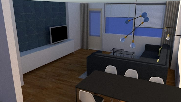 3D visualisatie interieurplan:   door MJF Interieur