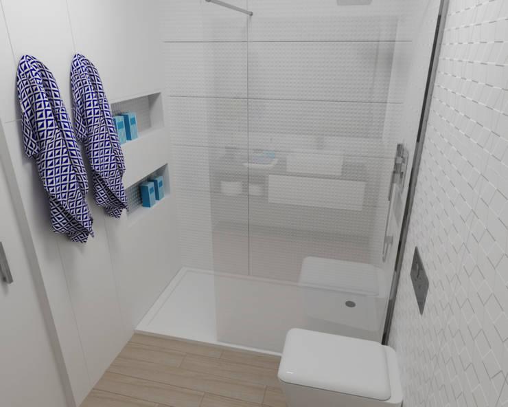 Projectos 3D Smile Bath: Casas de banho minimalistas por Smile Bath S.A.