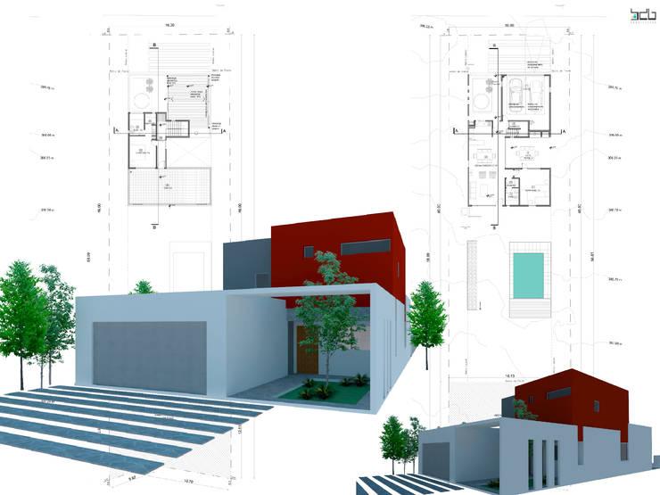 PROYECTOS REALIZADOS EN CHOCÓN MEDIO:  de estilo  por BDB Arquitectura,