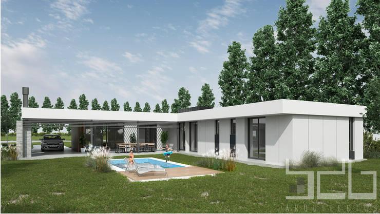 Vista Posterior:  de estilo  por BDB Arquitectura