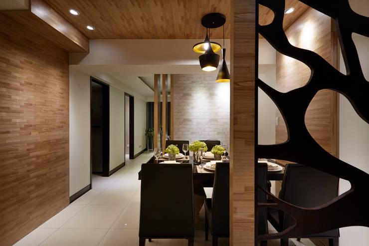 現代時尚的奢華氣息:  餐廳 by 雅和室內設計