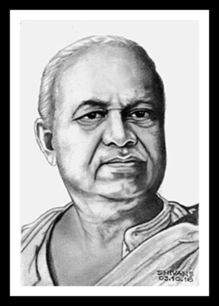 Portrait of Dada Saheb Palkhe:  Artwork by Indian Art Ideas