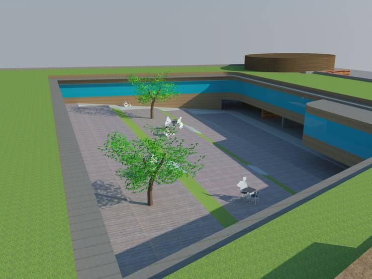 내부 중정: 루아건축사사무소의