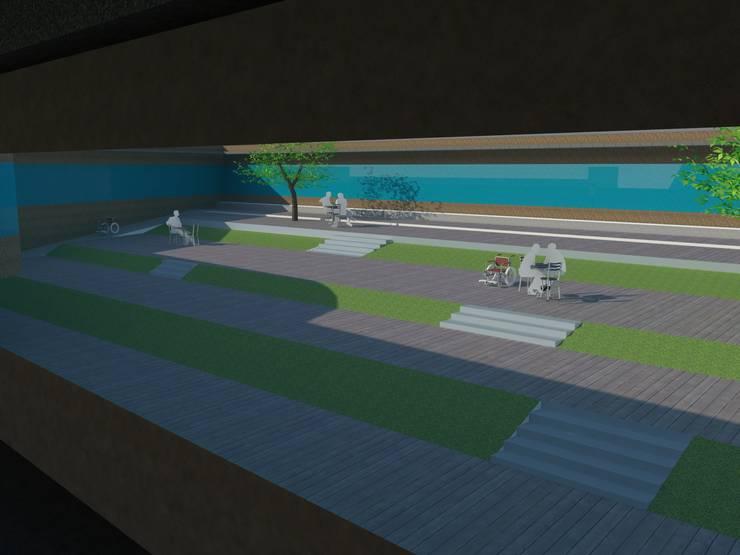 중정 내부: 루아건축사사무소의