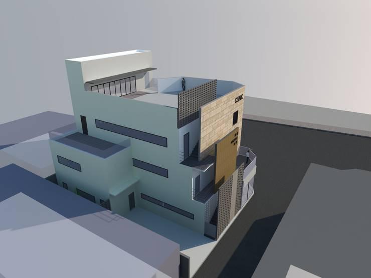 울산 클리닉 빌딩: 루아건축사사무소의  병원,모던