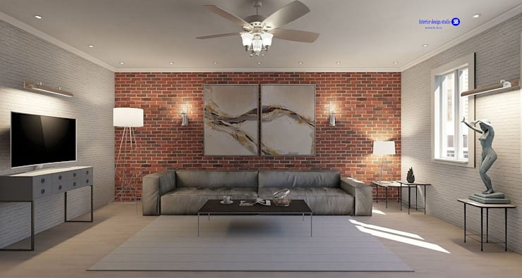 Living room  in Loft style: modern Living room by 'Design studio S-8'