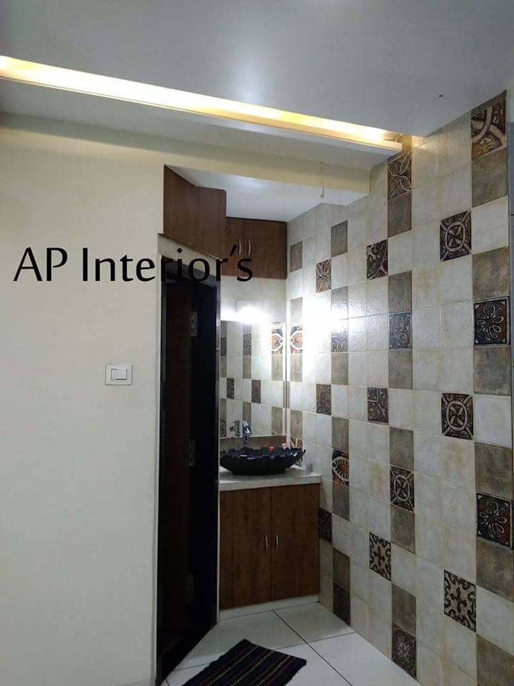 Interiors: modern Bathroom by Studio An-V-Thot Architects Pvt. Ltd.