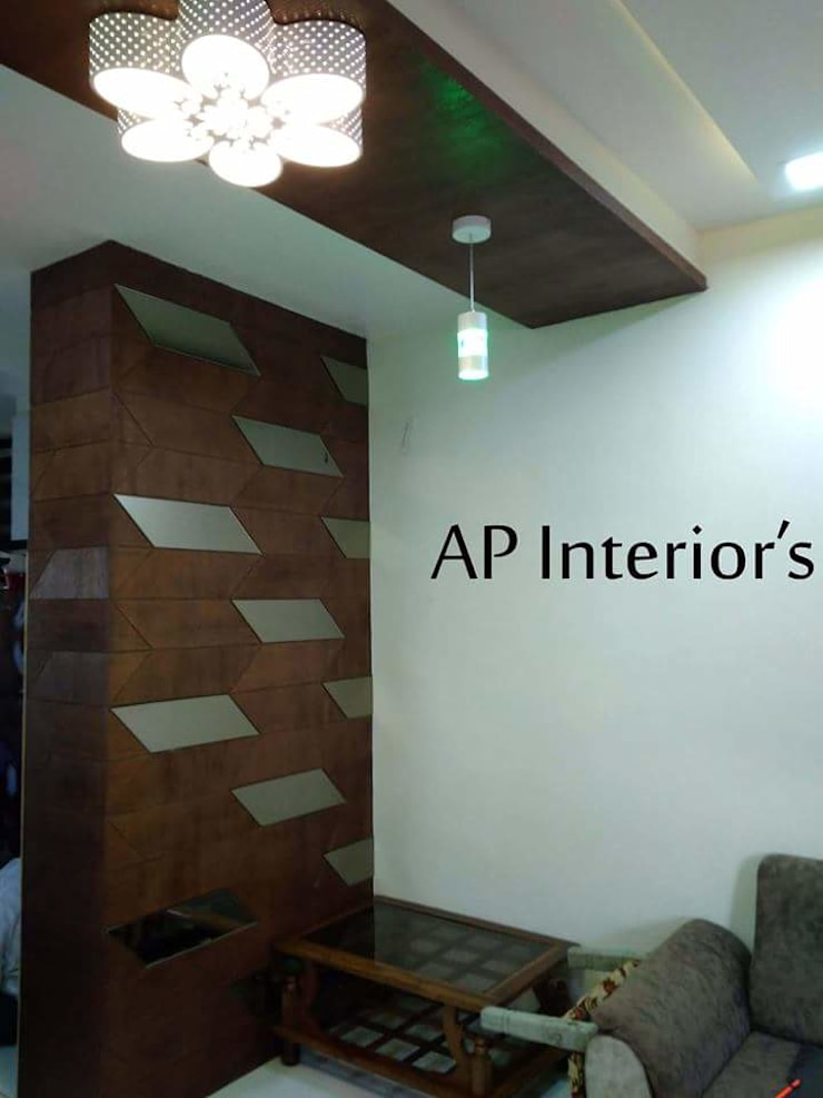 Interiors: modern Living room by Studio An-V-Thot Architects Pvt. Ltd.