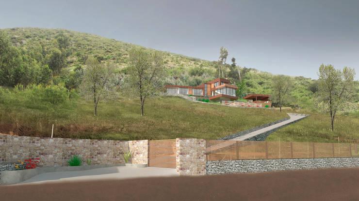 Emplazamiento.: Casas de madera de estilo  por Uno Arquitectura