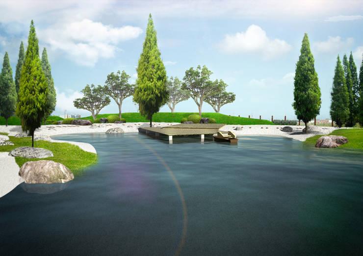 私宅景觀規劃示意圖:   by 宏藝設計工作室