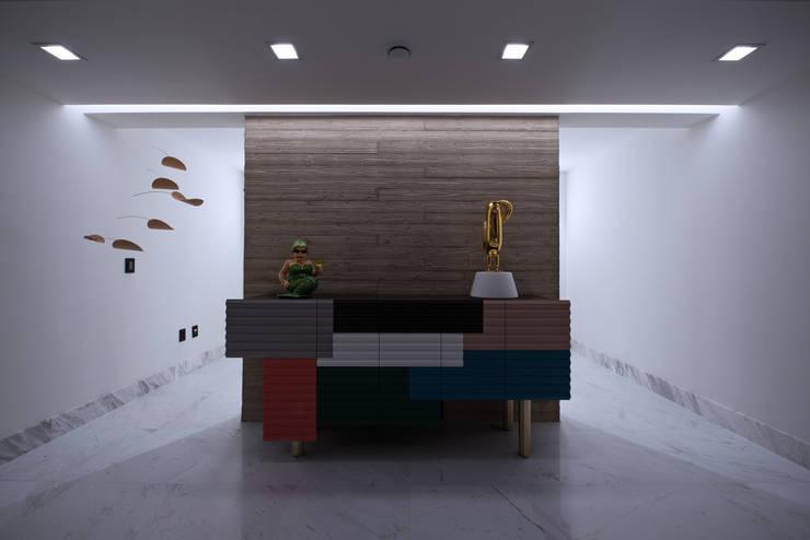 광주 서창동 1.4리터 패시브하우스 – 아들집: (주)자림이앤씨건축사사무소의  복도 & 현관