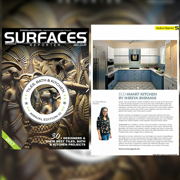 Surface Magazine:  Kitchen units by Shreya Bhimani Designs