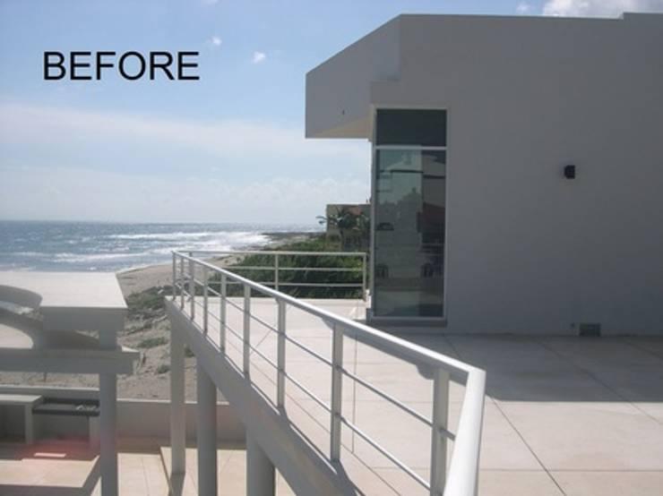 Modern Beachfront Masterpiece Estate  (2013):  Stairs by James Grey Interiors