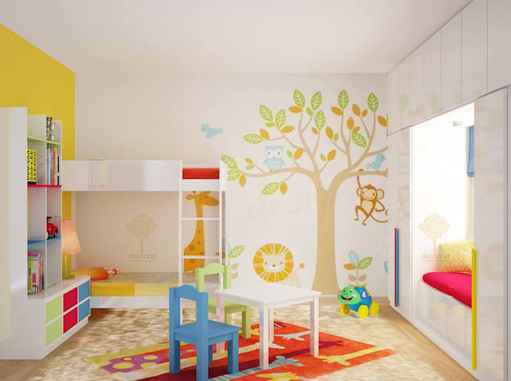 Kids Bedroom:  Bedroom by Decopad Interiors,