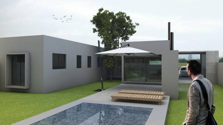 CASA VEINTIOCHO: Casas de estilo  por nous arquitectos,