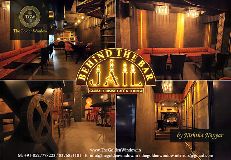 Jail - Behind The Bar:  Interior landscaping by The Golden Window Designs