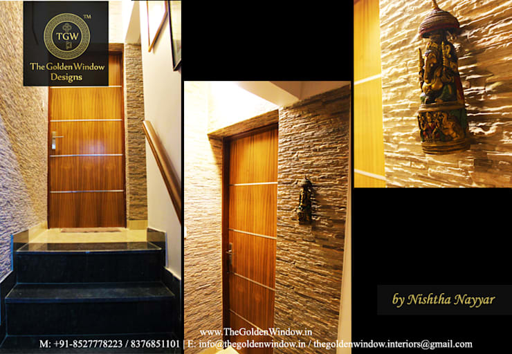 Vasant Kunj Residence:  Interior landscaping by The Golden Window Designs