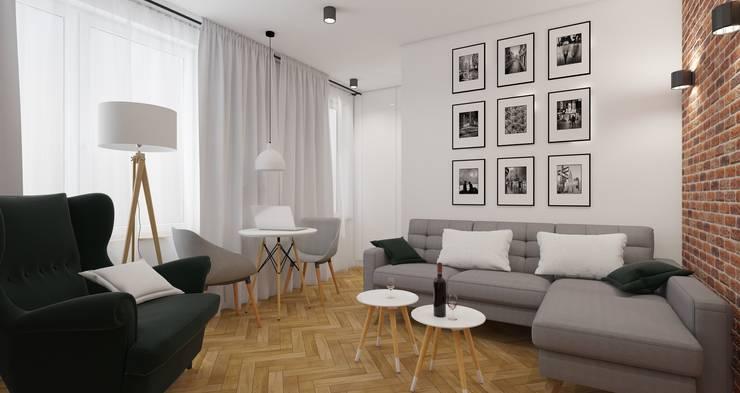 Living room by AIN projektowanie wnętrz