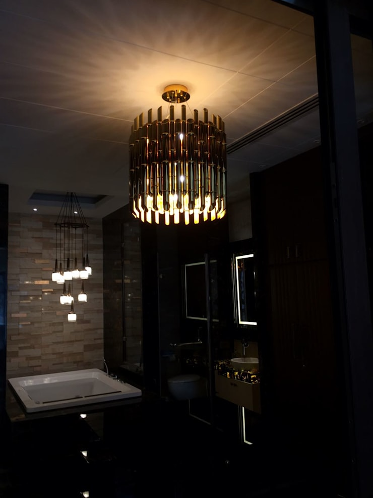 Contemporary Bathroom Lighting: modern Bathroom by Jainsons Emporio