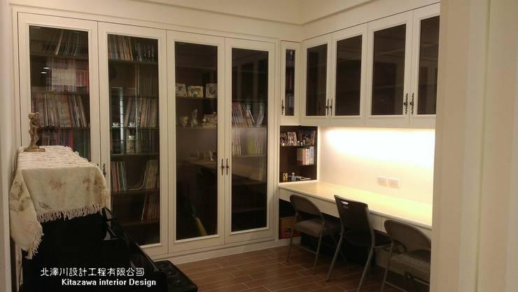 時尚奢華百坪四大房室內豪宅設計:   by 北澤川有限公司