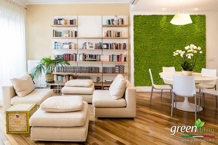 Progettazione di giardini verticali e pareti verdi in for Rivestimento parete soggiorno