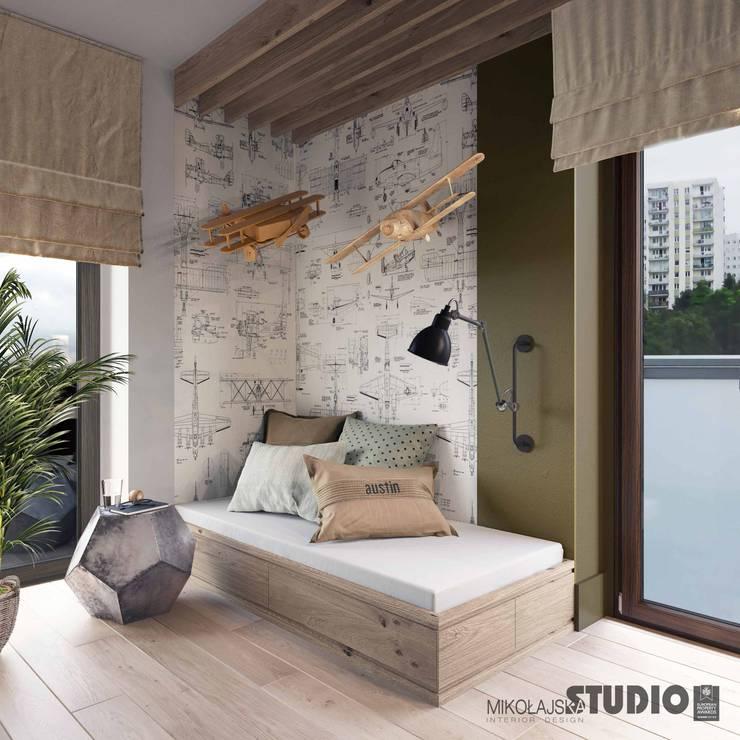 MIKOŁAJSKAstudio :  tarz Erkek çocuk yatak odası