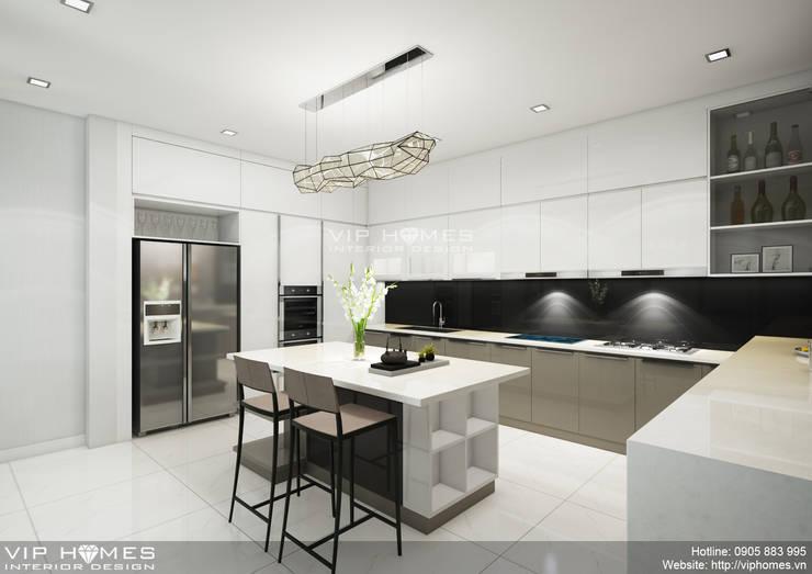 Thiết kế nội thất phòng bếp:   by Công ty TNHH Không Gian Mo