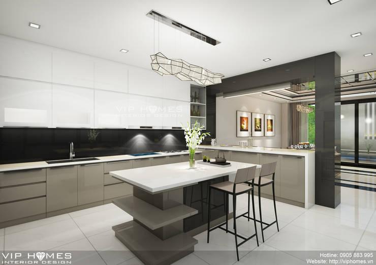 Thiết kế không gian nội thất phòng bếp:   by Công ty TNHH Không Gian Mo