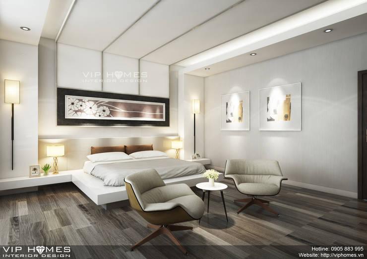 Thiết kế nội thất phòng Master:   by Công ty TNHH Không Gian Mo