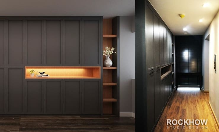 งานออกแบบรีโนเวทคอนโด:  ตกแต่งภายใน by Rockhow Studio Design