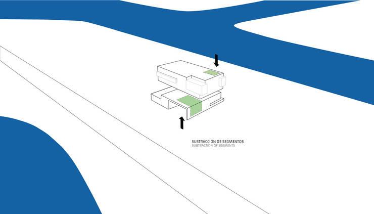 CASA SC: Casas unifamiliares de estilo  por Speziale Linares arquitectos,