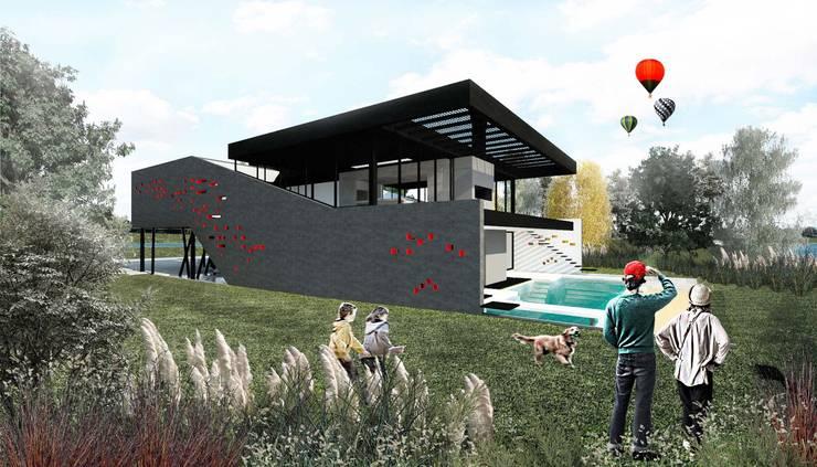 CASA OT: Casas de estilo  por Speziale Linares arquitectos