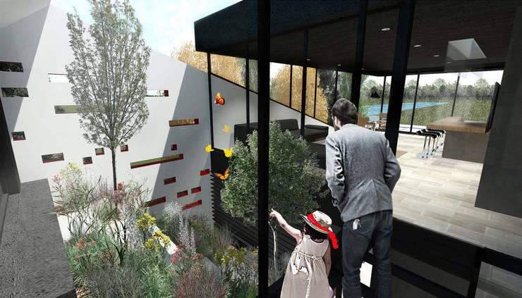 CASA OT: Casas unifamiliares de estilo  por Speziale Linares arquitectos
