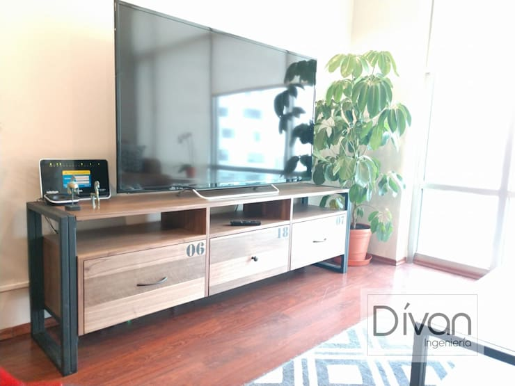 Mobiliario Salón: Comedor de estilo  por Divan ingenieria