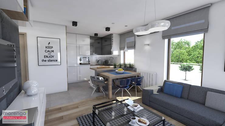 Dining room by MARENGO ARCHITEKTURA WNĘTRZ, Modern